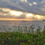 Polvo de luz en la isla de Mouro