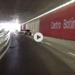 Cruzamos el nuevo túnel del Centro Botín. Sube