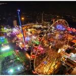 Los atracciones de la Feria de Santiago a vista de dron