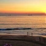 Un cole en el Sardinero al amanecer