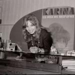 Karina con Federico Llata en el Santander de los 70
