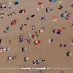 Playa cántabra, desde el aire