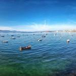 Azul bahía de Santander