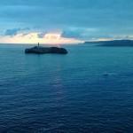 El cielo se abre sobre la isla de Mouro