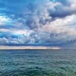 Cortina de agua sobre el horizonte