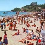 Día de playa en la Magdalena. Años 60