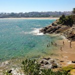 Un cole en la playa más pequeña de Santander