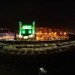 Postales nocturnas. Palacio de Festivales, casino, hotel Sardinero