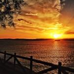 Tres instantes del amanecer desde la senda de Mataleñas