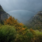 La cascada del Asón con arco iris