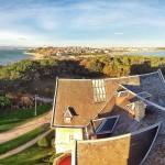 La bahía y el abra del Sardinero. Diálogo. El tejado de palacio