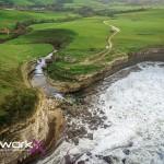 La cascada de El Bolao a vista de dron