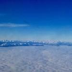 Los Picos de Europa desde la ventana de un avión