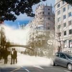 Santander hoy y ayer en cuatro imágenes superpuestas
