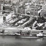 Santander cuando los barcos descargaban frente a los Jardines de Pereda