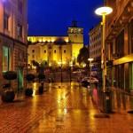 Santander con lluvia. Hoy a las 8 de la mañana