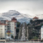 Nieve que se asoma al Sardinero