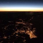 Santander anoche desde 11.500 metros y vigilada por Venus y Saturno