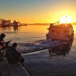 Componiendo canciones al amanecer. Bahía de Santander