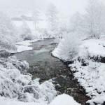 Vega de Pas. Estampas nevadas. De postal
