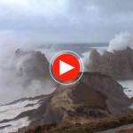 El temporal en La Arnía da miedo