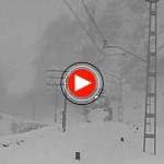 Nieve en las vías de Cantabria. 1956. Imágenes históricas