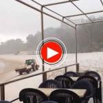Mira cómo nieva en la playa de los Peligros