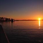 Vuelta a la calma. Plácido amanecer en la bahía de Santander