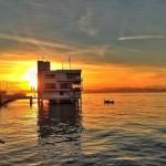 Grandioso amanecer desde la bahía, Piquío y la arena del Sardinero