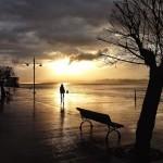 El sol quiere pero no puede. Bahía de Santander