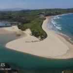 La playa de Oyambre a vista de dron
