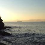 La isla de Mouro levita junto a la bruma