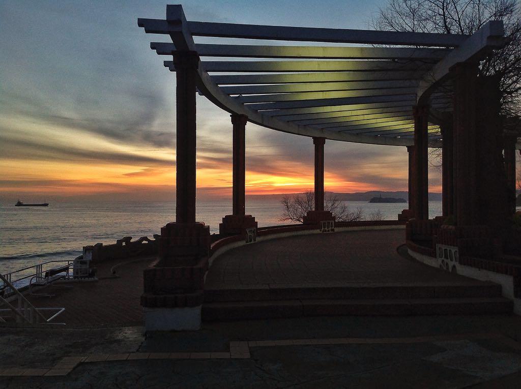 pergola-piquio-santander-amanecer