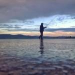 El pescador que camina sobre las aguas de la bahía de Santander