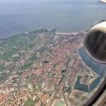 Santander desde el cielo. Hoy a las 12,15 horas y la marea en bajamar