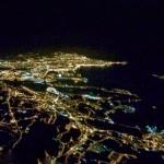 Santander nocturno desde 4.000 metros de altura