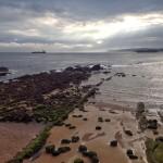 Rayos de sol que se cuelan para echar un vistazo a Santander