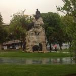 Monumento a Pereda. Deconstrucción