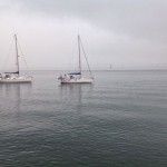 Veleros en la bahía. A la intemperie