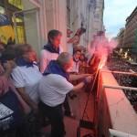 Paco Felix, encendiendo la mecha del chupinazo de la Semana Grande de Santander