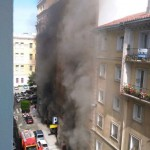 Incendio en el garaje América de la calle San José