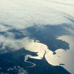 Santander entre nubes. Desde 11.000 metros