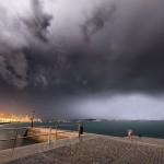 Tormentón en la bahía de Santander. Hoy a las 6,30