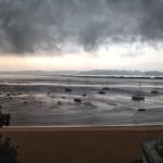 Se cae el cielo en el Sardinero y en la bahía