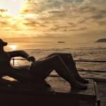 Las esculturas de Henry Moore con luz de amanecer