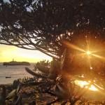 Isla de Mouro, chalupa, rayo de sol