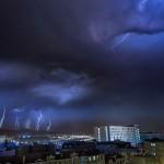 Noche de rayos y truenos en Santander