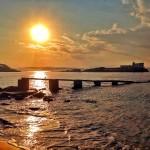La isla de la Torre bajo el sol