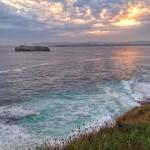 Mar batida. Gama de colores
