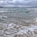 Mar juguetona en el Sardinero